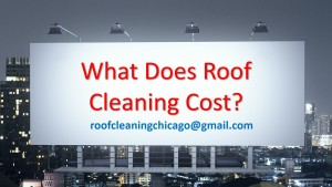 what does roof cleaning cost roof cleaning chicago